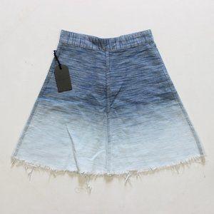 Allsaints Jina Ombre Mini Raw Hem Fray Skirt